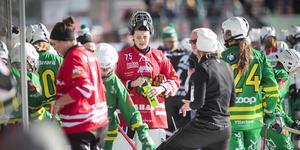 Ebba Fridlund – viktig sista utpost i Skutskär i TV-matchen mot Västerås SK.