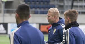Benny Mattsson under träningen på Gavlevallen.