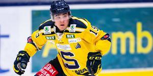 Lucas Carlsson är på väg mot sin första säsong med över 30 poäng i hockeyallsvenskan. Foto: Bildbyrån.