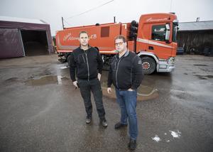 Bröderna Olle och Tommy Aneklev är delägare i Gävle Alltransport.  De är i stort sett nöjda med företagsklimatet i kommunen.