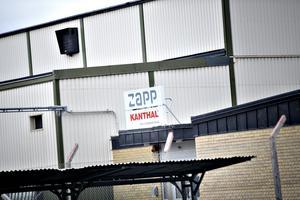 Snart tas Kanthalskylten ner  utanför trådfabriken i Sandviken.