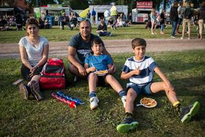 Naima Ali och Mhidi Ismail med barnen Jan och Jwan har besökt Putte i Parken varje år sedan de flyttade till Leksand.