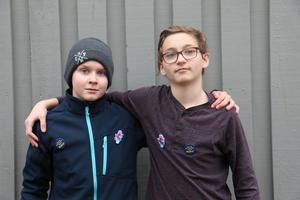 Jonathan Hillerberg Hanell och Tobias Hansen från Vanstaskolan.