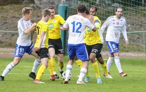 Det var tufft och tätt i derbyt men till slut kunde Iggesund vinna med 2–0.