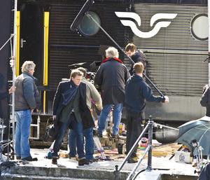 Daniel Craig, formerly known as James Bond, i järnvägsscenen i Sollefteå 2011. Foto: Stefan Sundkvist