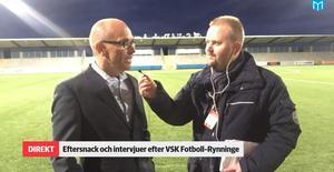 Tor-Arne Fredheim i Sportens direktsändning efter matchen.