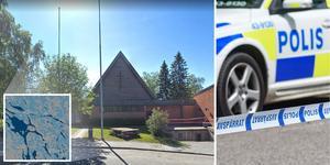 Polisen har genomfört en brottsplatsundersökning och säkrat spår. Bilden är ett montage: Google maps/Arkivbild