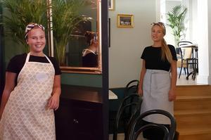 Systrarna Matilda och Mimmie Vänerhag öppnar snart C'est Bon Café & Blommor, ett franskinspirerat kafé på Torpa. Obs: Montage.