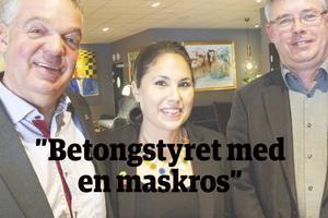 M + MP + S = Sant. Jonas Holm (M), Andréa Bromhed (MP) och Mikael Löthstam (S) formerar majoritet i Hudiksvallspolitiken.