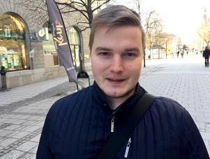 Sebastian Christiansson, 25, utvecklare, Sundsvall: