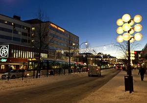 Stationsgatan i Borlänge,