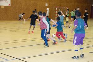 Matcherna under turneringen i Kopparhallen var intensiva. Däremot var det inte så noga med att räkna målen.