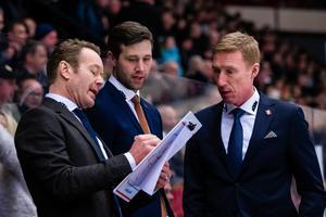 Niklas Eriksson jobbar gärna vidare med Henrik Löwdahl och Jörgen Jönsson. Bild: Kenta Jönsson/Bildbyrån