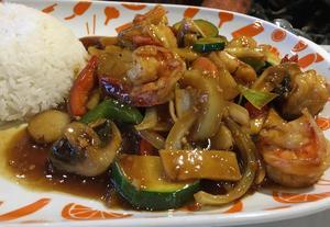 Tigerräkor a la Spicy hot.Foto: Lunchkollen
