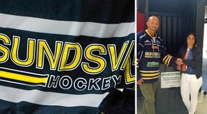 Per Jutterström, projektledare på Sportoteket och Anna-Karin Sitter, ansvarig för hockeyskolan i Sundsvall Hockey.