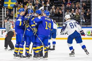 Tre Kronor besegrade Frankrike i den tredje gruppspelsmatchen i VM. Bild: Petter Arvudson/Bildbyrån
