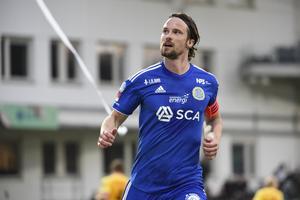 Linus Hallenius har gjort sex mål och leder skytteligan i Allsvenskan. Bild: Erik Mårtensson/TT.