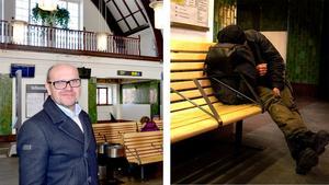 Allt fler missbrukare flyttar in på järnvägsstationen.