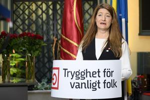 LO-ordföranden Susanna Gideonsson. Foto: Henrik Montgomery / TT.