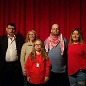 Vid årsmötet valdes Vänsterpartiet följande styrelse: Från vänster: Sten-Olof Eklund,  Lena Stigsdotter, Fia Wikström, Thomas Sjöberg och Emma Sjöberg.