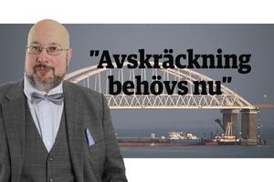Det här är en ledartext av Patrik Oksanen som skriver om säkerhetspolitik och försvar för flera av Mittmedias liberala och centerpartistiska tidningar. Oksanen är till vardags politisk redaktör för Hudiksvalls Tidning (c).