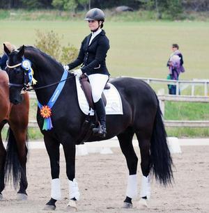 Linda Halldin Normann på Zobori, hästen som blev hennes stora stöd under rehabiliteringstiden efter olycka och ryggoperation.