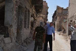 Skadorna i Mosul var omfattande efter striderna för att tvinga bort IS terrorregim. Foto: Shlomo Organization for Documentation.