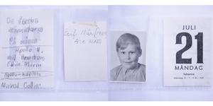 Annikki Andersson, Sveg, lämnade in de här 50 år gamla anteckningarna från sin son. Leif Olof Andersson, Barkaby, var 11 år när Apollo 11 landade på månen måndagen den 21 juli 1969.
