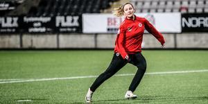 Karin Lundin under Kif Örebros första träning 2020 under måndagskvällen.