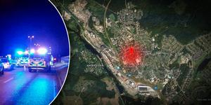 Statistiken visar att många olyckor sker i stadstrafik, som här i Fagersta.