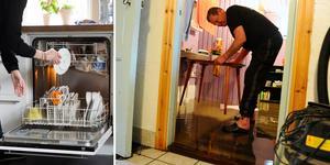Vattenskador i köket har ökar markant på senare år. Bilden är ett montage.