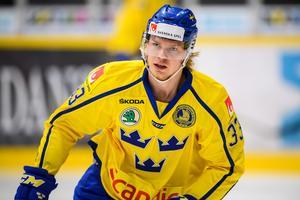 Christopher Mastomäki i Tre Kronor-tröjan. Bild: Petter Arvidson/Bildbyrån