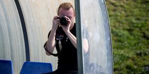 Jesper Florén hann även med att låna VSK:s egen kamera.
