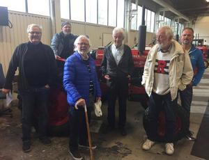 Här ses två tredjedelar av styrelsen. Från vänster:  Curt Sillström, Hasse Lindqvist, Folke Lindqvist, Carl Erik Backeryd, Henry Jönsson och Olle Lindqvist. Foto: Per Söderberg.