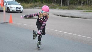 Kajsa Knutsen hade en elegant stil när hon åkte inlines.