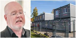 Bob Wållberg tycker att det är rätt att rata byggbodarna. Vart kommuntjänstemännen ska flytta i stället är inte klart.
