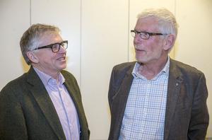 Anders Åkesson (C), förste vice ordförande i Trafikutskottet, tillsammans med den jämtländske riksdagsledamoten Per Åsling (C).