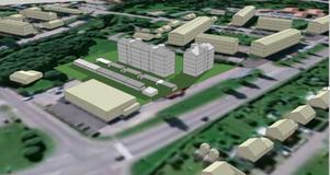 Utan hörn skulle det nya bostäderna kunna byggas så här, enligt ett exempel.