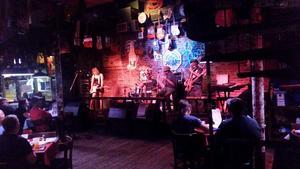 Bild: Privata bilder fotade av Roffe Persson, Ulf Westin och Paul Fogelman. Rum Boogie Café, Memphis, Tennessee, en av flera bluesklubba på Beale St.