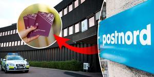 Polisen i Falun menar att de inte fått någon post levererad av Postnord sedan i tisdags. Foto: Dennis Pettersson, Tomas Oneborg, Fredrik Sandberg