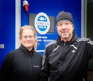 Anna-Karin och Anders Holmberg slutar med fiskförsäljningen efter jul.
