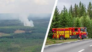 Räddningsledaren Lars Westerfors bedömer att de måste ha koll på brandplatsen i ett par dygn till på grund av brandrisken.