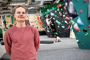 Klas Leifland från Värnamo har klättrat sedan han var tonåring. Nu öppnar han och tre kompisar ett klättergym i Göteborg. Foto: Privat