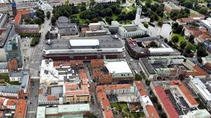 Västerås centrum från ovan.