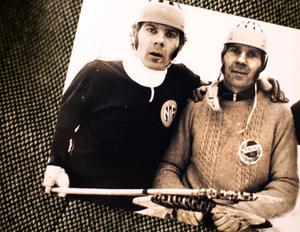 Bengt och Göran Rogström. Bengt, till vänster, representerade Nynäshamn och Göran Falu BS.