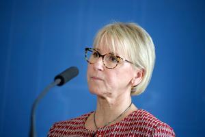 Sveriges nuvarande utrikesminister, Margot Wallström (S). Foto: Jessica Gow/TT