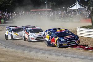 Oliver Eriksson leder RX2-serien med 14 poäng, inför den avslutande deltävlingen i Sydafrika. Foto: RX2