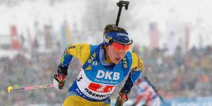 Linn Persson körde den första sträckan för Sverige.