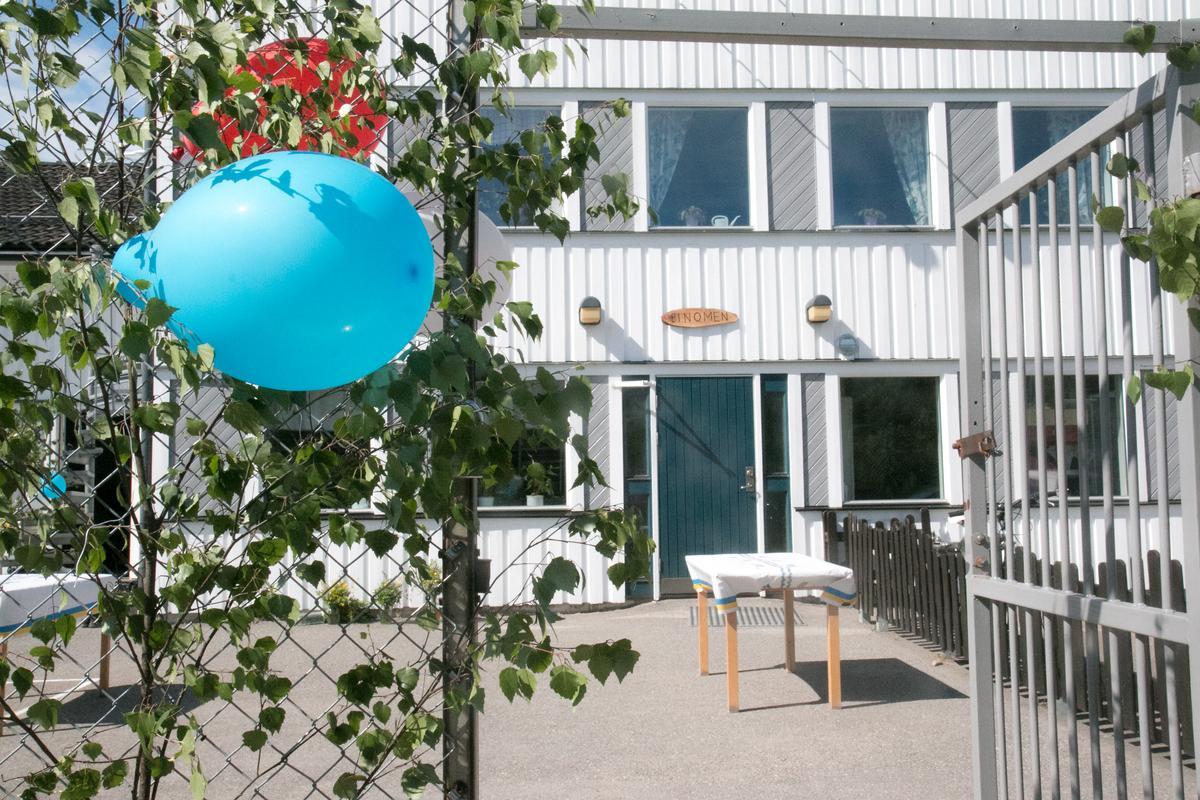 """En bra lösning för Binomen Lyft ut fastigheten """"Förtennaren"""" som skolan Binomen ligger på och gör en """"frimärksplan"""" av den."""