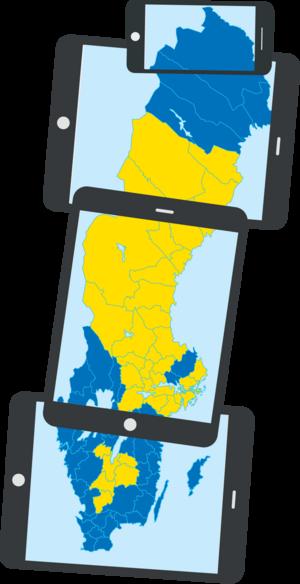Genom samarbetet Sveriges Lokalnyheter får du som prenumerant automatiskt tillgång till 40 nyhetssajter och appar från Skellefteå i norr till Markaryd i söder.